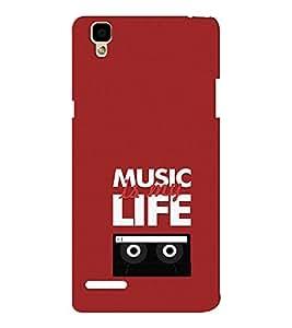 EPICCASE Music is my life Mobile Back Case Cover For Oppo F1 (Designer Case)