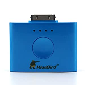 Asunflower® Portable Blue External Power Bank Battery Charger 1500mAh for iPhone4 + free gift of case (Blue KEB1500)