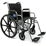 Medline Excel K1 Basic Extra-Wide Wheelchair, 20 Inch
