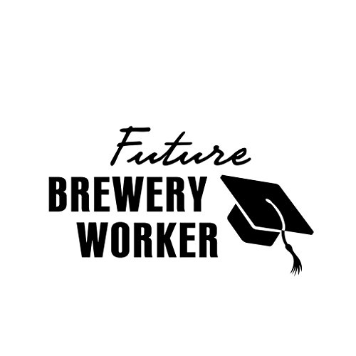 ShirtMania FUTURE BREWERY WORKER Career Occupation Car Laptop Wall Sticker