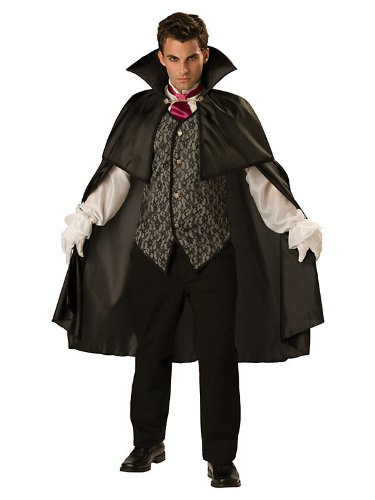 Adult Midnight Vampire Costume Bundle With Accessories ( SIZE XL )