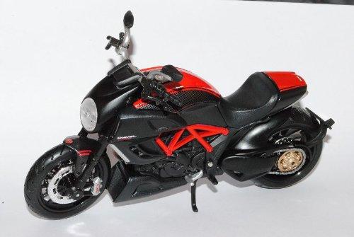 Ducati Diavel Carbon Schwarz 1/12 Maisto Modell Motorrad mit individiuellem Wunschkennzeichen