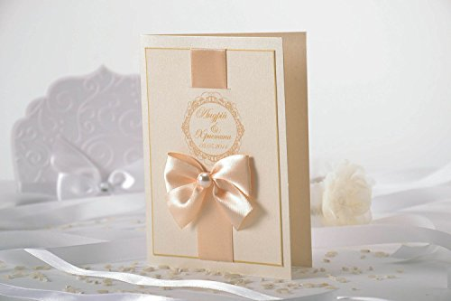 Invitation au mariage artisanale avec n?ud