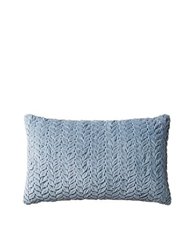 Nitin Goyal London Hand-Smocked Leaf Cotton Velvet Lumbar Pillow