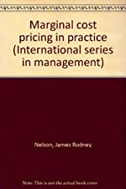 Marginal Cost Pricing in Practice by James…