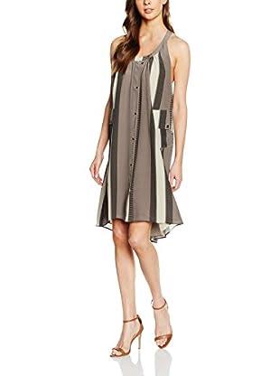 Belstaff Vestido Merrill (Taupe / Hielo / Negro)