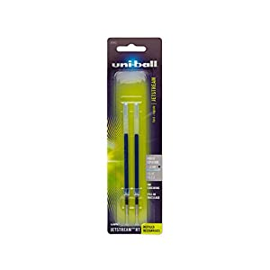 uni-ball Jetstream Retractable and RT Sport Pen Refills, Bold Point, Blue Ink, Pack of 2