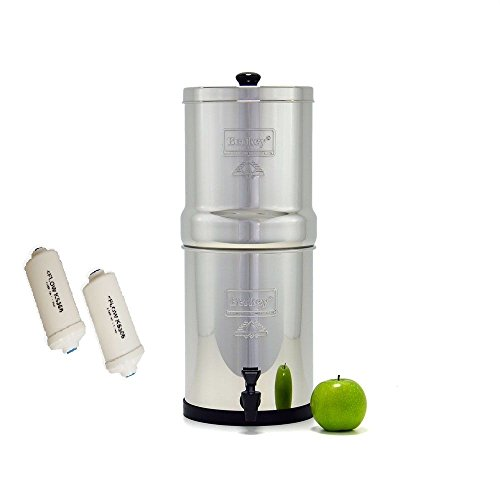 Travel Berkey Water Filter with 2 Black Berkey Filters and 2 PF2 Fluoride Filters (Used Berkey Water Filter compare prices)
