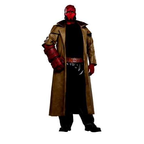 Hellboy Full Cut Mens Adult Size Costume, Plus Size (Fits 46-52 Jacket Size)