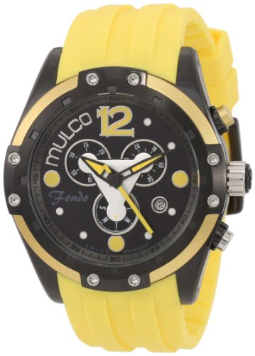 Mulco Homme & Femme 45mm Chronographe Jaune Plastique Bracelet Montre MW1-98485-095