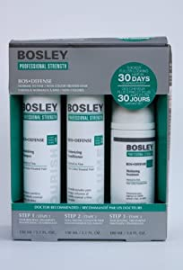 Bosley Defense Starter Pack for Normal to Fine Non Color-Treated Hair(Step 1, Step 2, Step 3)