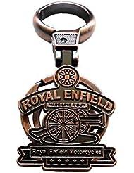 AURA Royal Enfield Key Chain Keyring Fob Logo For Classic Bullet Thunderbird Himalayan Squadron Blue Continental...