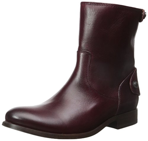 Frye Melissa Button Zip Short Boot, Stivali donna Rosso Bordeaux 39