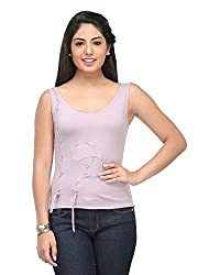 Cappadocia Women's Slim Fit Top (Cap00012 Purple_S, Purple, Small )