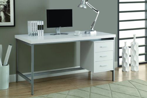 Monarch Hollow-Core/Silver Metal Office Desk,