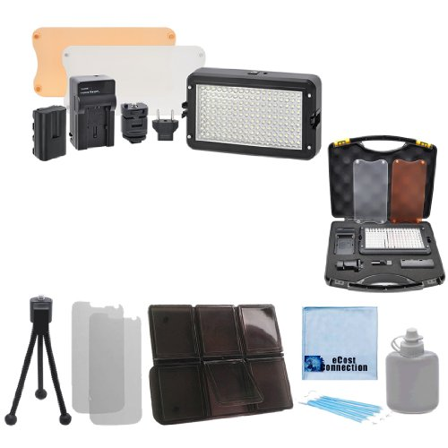 Professional Led Light / Flash Kit + Deluxe Accessories Kit For Canon Eos C300, Eos C500 4K, Xa10 Hd, Xa20 , Xa25, Xf100, Xf105, Xf300, Xf305 Cacorder And More... + A Deluxe Starter Kit