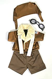 Pilot Outfit With Goggles Teddy Bear Clothes Fit 14 - 18 Build-a-bear Vermont Teddy Bears And Make Your Own Stuffed Animals by Bear Factory