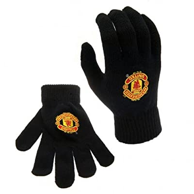 Official Manchester United FC Knit Gloves