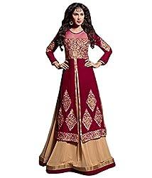 Styleliner Styliner Unstitched Salwar Suit(M19-07,Red)