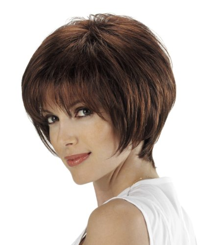Tony of Beverly Womens Synthetic Wig ''Harlow''-6: Medium Brown
