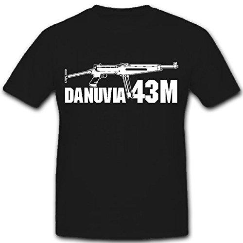 Danuvia 43M - Ungheria MP macchine pistola 9 mm Király - T-Shirt #8295 nero XX-Large