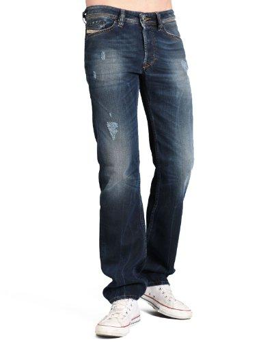 Diesel Viker Rg28 Straight Blue Man Jeans Men - W32 L32