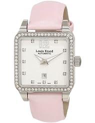 Louis Erard Women's 20700SE11.BDS60 Emotion Square Automatic Pink Satin Diamond Watch