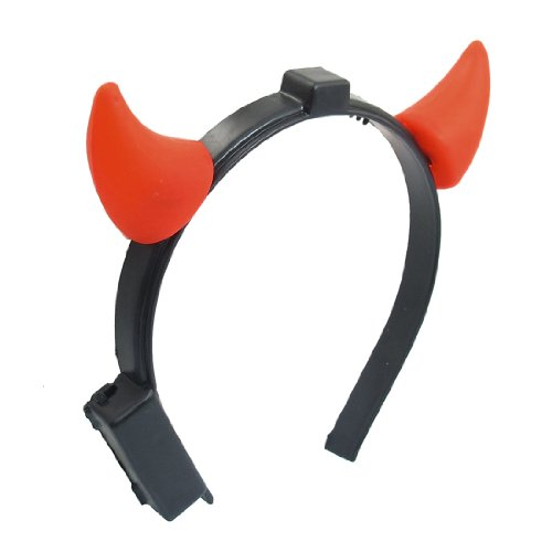 Halloween Costume Red Led Light Ladies Devil Horns Headband