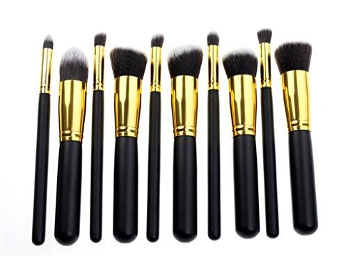 efans Professionnel 10 lot pinceaux maquillage trousse en cas exquisge Brush Set