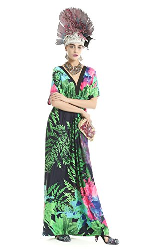 Polarfox Women'S Plus Size Backless Evening Elegant Cocktail Dresses 5Xl Green