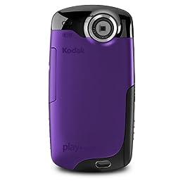 Kodak PlaySport Zx3 HD Waterproof Pocket Video Camera Purple NEWEST MODEL