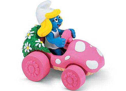Buy Low Price Schleich Smurfette in Car: Smurf in a Diorama Mini Figure Series [402652] (B004RW8WKM)