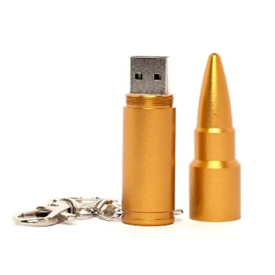 Gold Bullet USB Memory Stick 2GB - Flash Drive/School/Novelty/Gift from Memory Mates