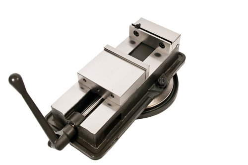 Palmgren MPS60 6-Inch Precision Milling Machine Vise with Swivel Base, Dark Grey