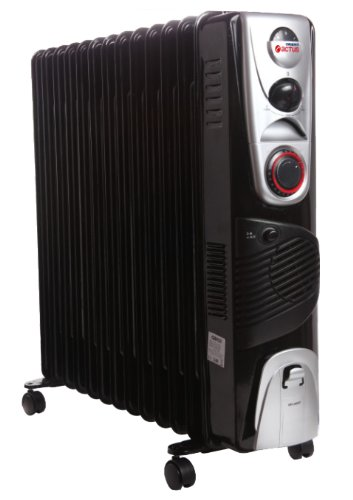Actus OF1301F 2900W 13 Fin Oil Filled Radiator Room Heater