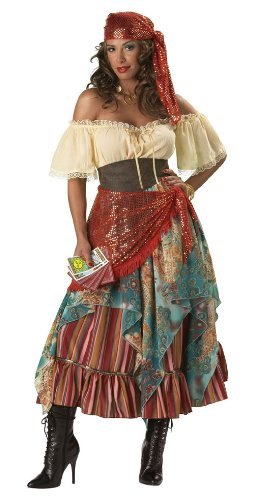In Character Costumes 32104 Fortune Teller Elite Collection Adult Costume Size Medium