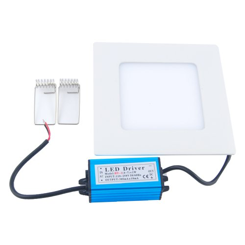 Thg 3200K 9W 3014 Smd Led Warm White Square Recessed Ceiling Panel Flat Downlights Bulb 720Lm For Library Meeting Show Room Ktv Studio