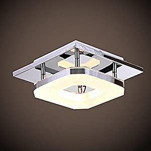 Unitary™ Modern Acrylic LED Ceiling Light Max 8W With Chrome Finish by Unitary