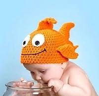 Doinshop 0-12m Born Baby Infant Toddler Goldfish Knit Crochet Photo Prop Suit Costume by doinshop