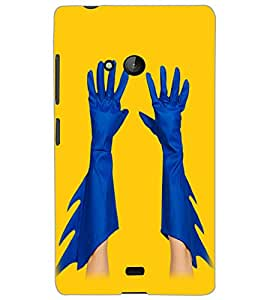 MICROSOFT LUMIA 540 HANDS Back Cover by PRINTSWAG