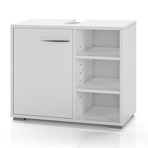 Waschtischunterschrank-Waschbeckenunterschrank-60cm-Unterschrank-Bad-Mbel-Badschrank-Siphonausschnitt-wei