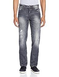 Celio Men's Tapered Fit Jeans (3596654338073_DOVICEGRIS_86_Grey)