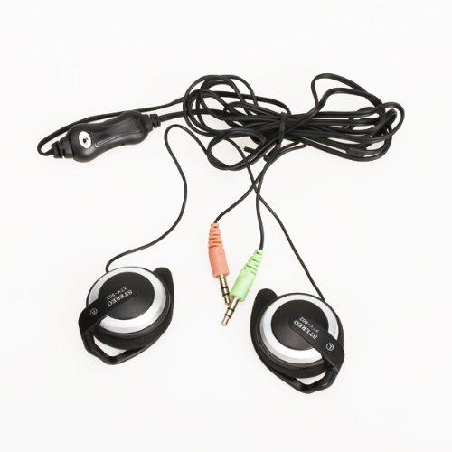 3.5mm Kopfhörer Kopfhörer Mikrofon mit Lautstärkeregelung für PC Skype MSN