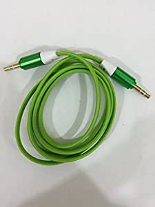 Shopping_Shop2000 Noodle Flat 3ft 1M 3.5mm Male to Male Stereo Auxiliary (AUX) Audio Jack Cord Cable for iPhone 5 5S 5C 4S 4 3GS iPod Touch Samsung Galaxy S5 S4 S3 S2 Note 2 Note 3 Nokia Lumia 920 HTC One X EVO 4G Rhyme DROID