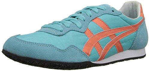 Onitsuka Tiger Women's Serrano Classic Running Shoe, Blue Radiance/Fresh Salmon, 11 M US