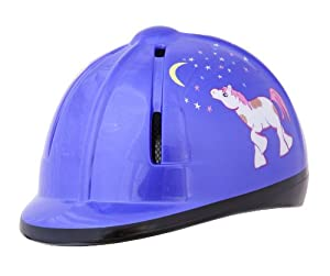 Devon-Aire Youth Equestrian Riding Helmet, Purple Pony