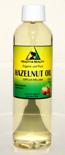Hazelnut Oil Organic Carrier Cold Pressed 100% Pure 4 oz