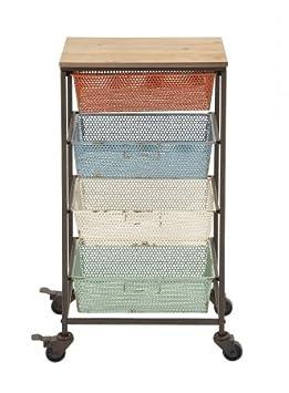 Metal Wood Storage Cart