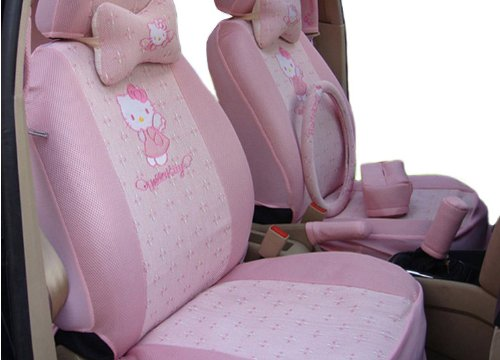 Summer Ice Kitty Auto Car Rearview Front Back Rear Seat Saddle Cover 18pcs EMS Shipping ZJ000154