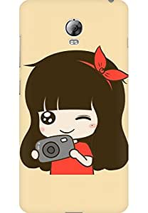 AMEZ designer printed 3d premium high quality back case cover for Lenovo Vibe P1 (cute girl camera)